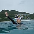 ハナリ島遠泳